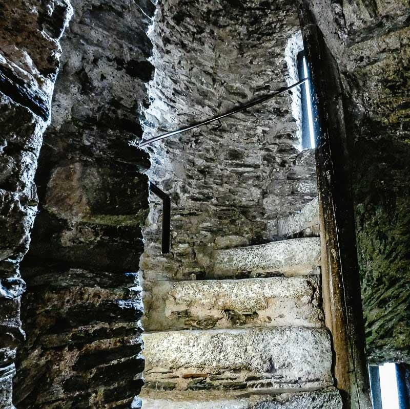 The staircase inside Reginald's Tower