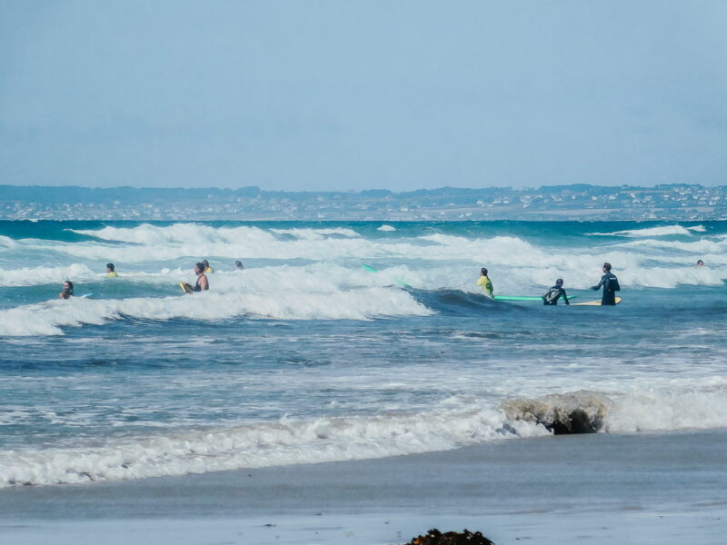Surfing in Brittany, France