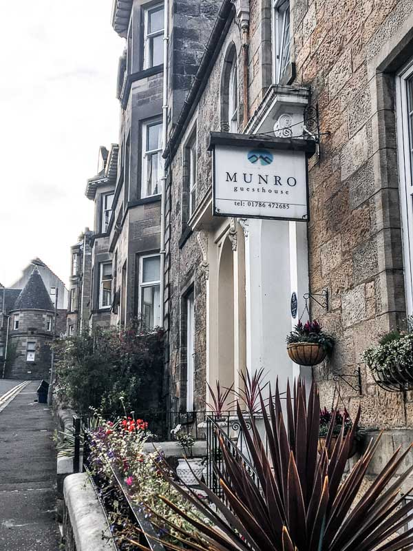 Munro Guest House in Stirling, UK