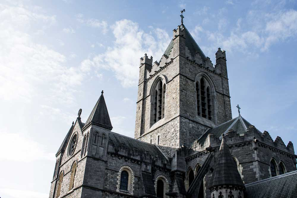 Admire Christ Church Cathedral on your self-guided tour of Dublin