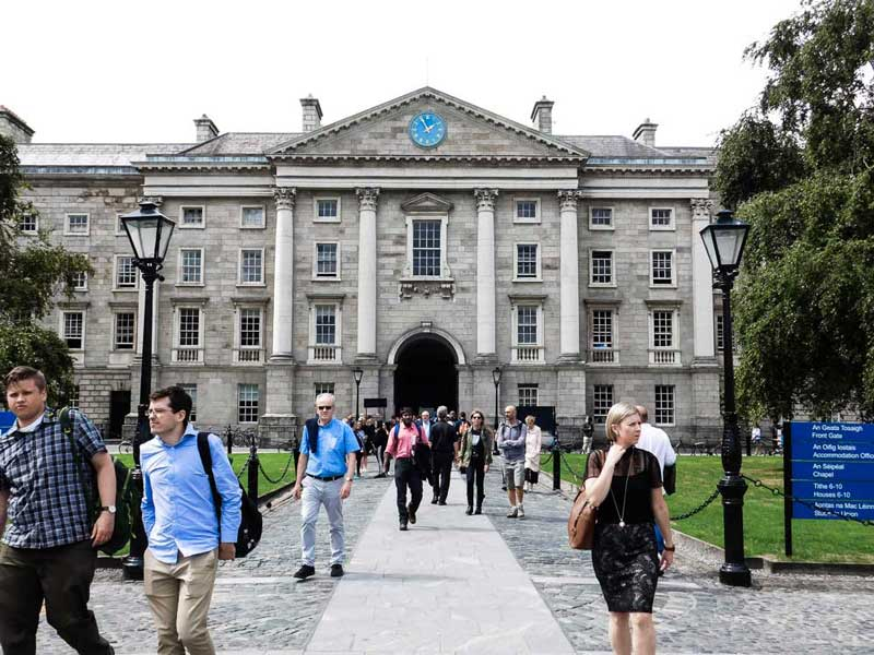Trinity College, a must-see during your self-guided tour of Dublin, Ireland