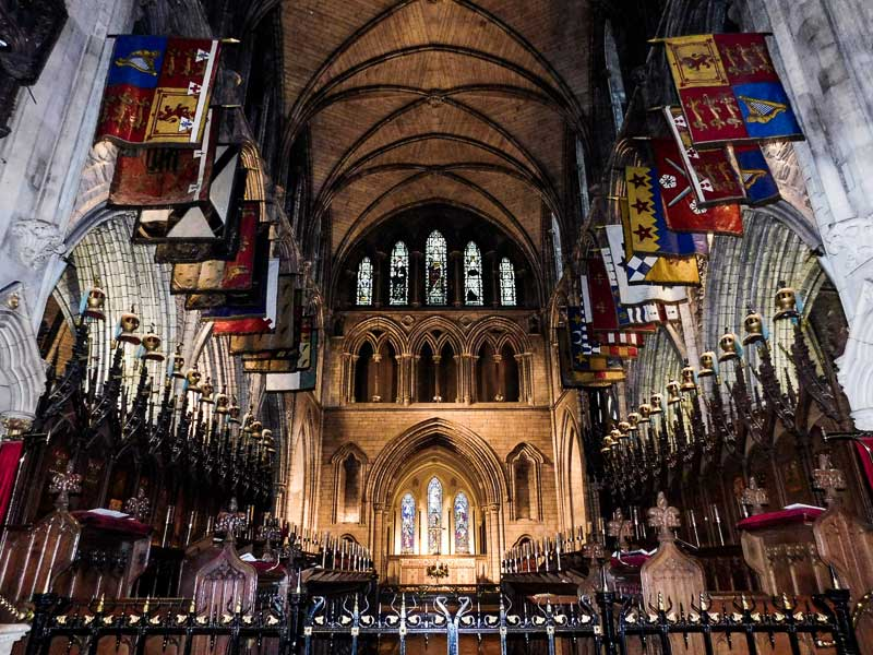 Inside St Patrick's Cathedral, Dublin