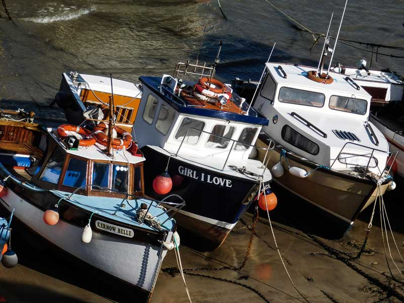 Boats in Newquay's Harbour, Cornwall
