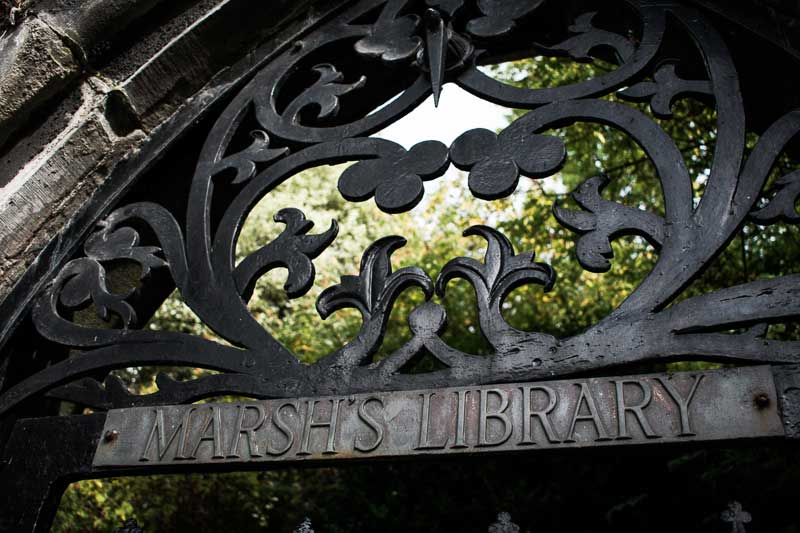 Gate of the Marsh's Library, Dublin, Ireland