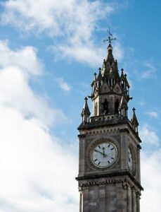 Albert Memorial Clock in Belfast, UK