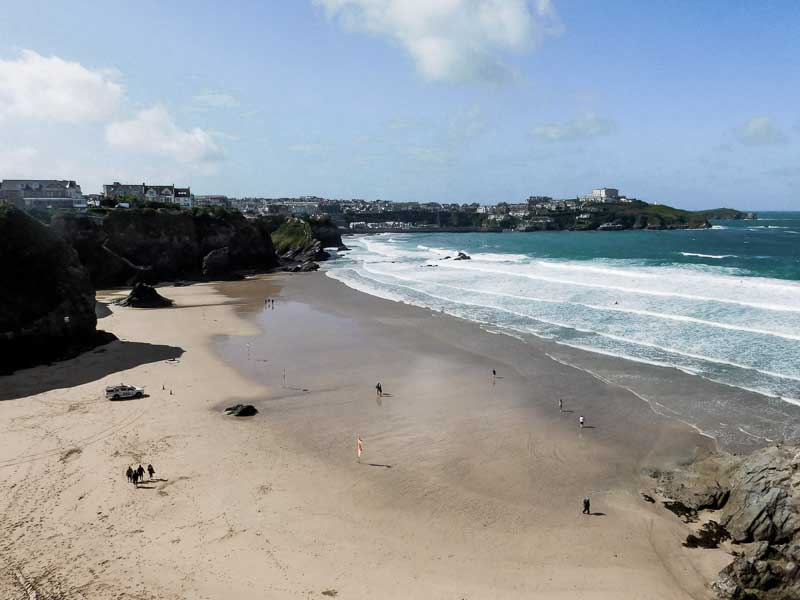 View over Newquay, UK