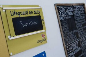 Lifeguard on duty in Newquay, Cornwall