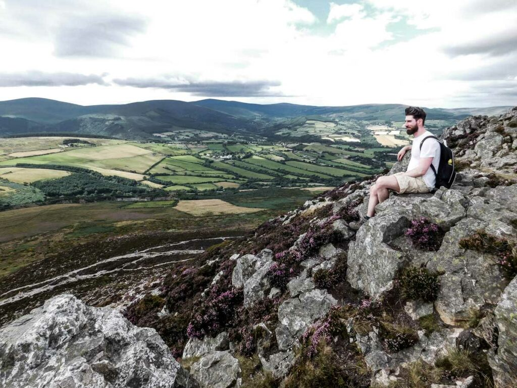 Climbing the Sugar Loaf, Co. Wicklow, Ireland