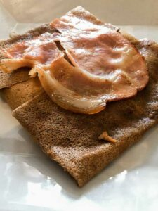 Savoury Crepe in La Harpe Noire, Creperie in Old Town Rennes