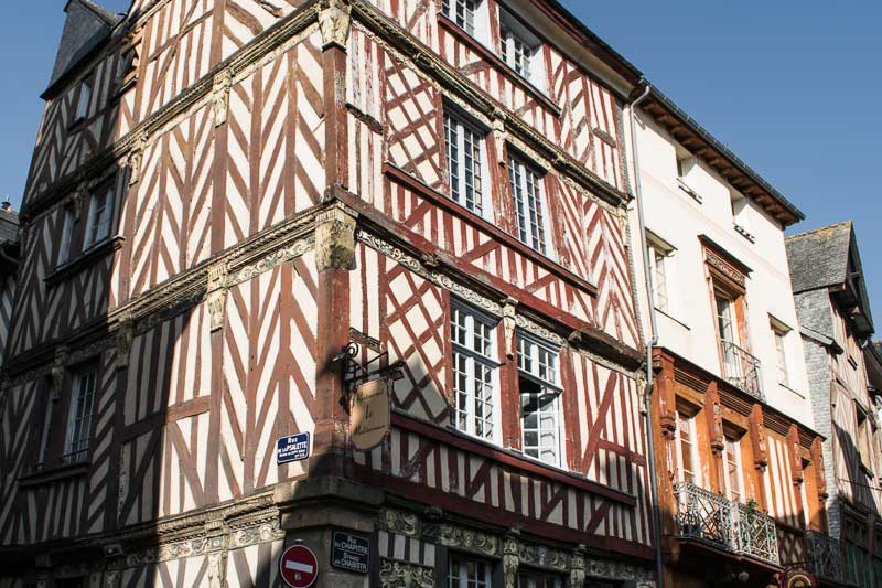 Half-Timbered House in Old Town Rennes, Brittany