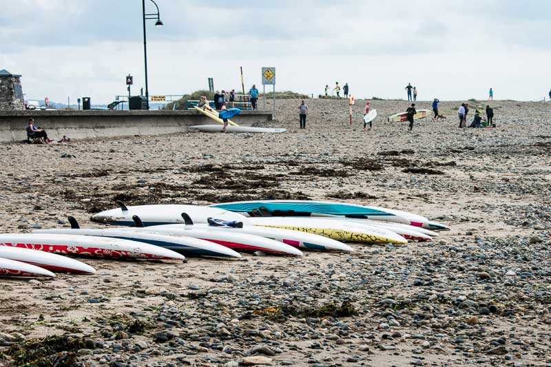 Surf boards on Tramore beach