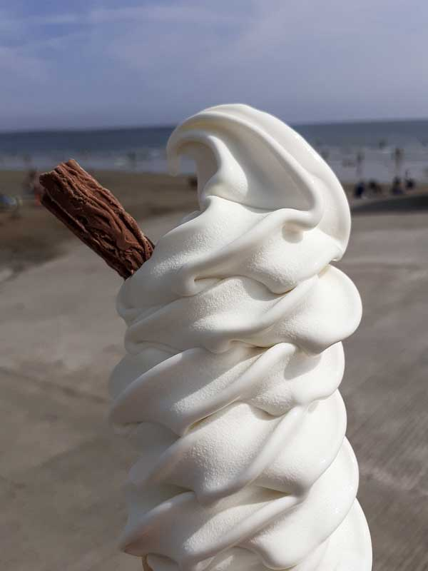 Eating an ice-cream in Tramore