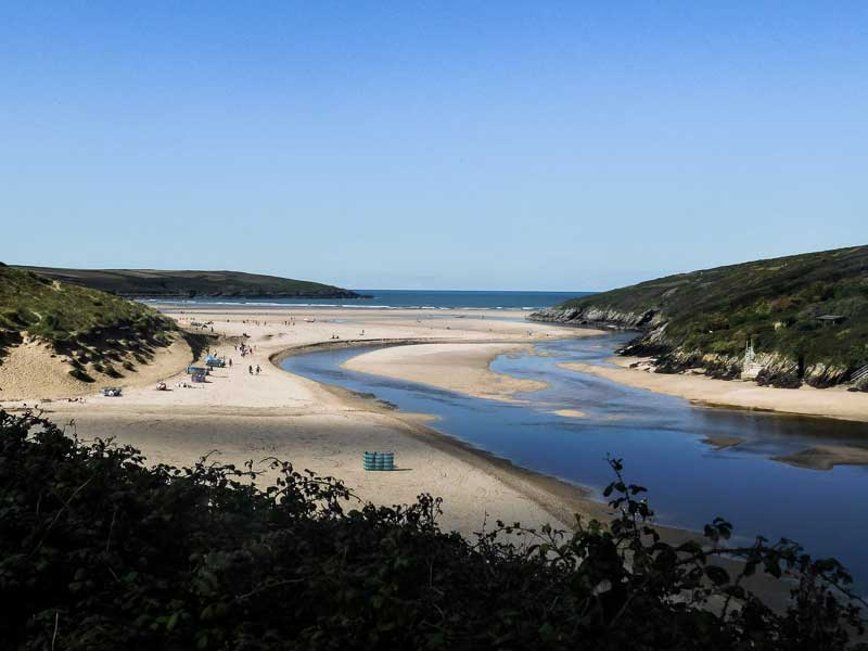 The Gannel Estuary in Newquay, Cornwall