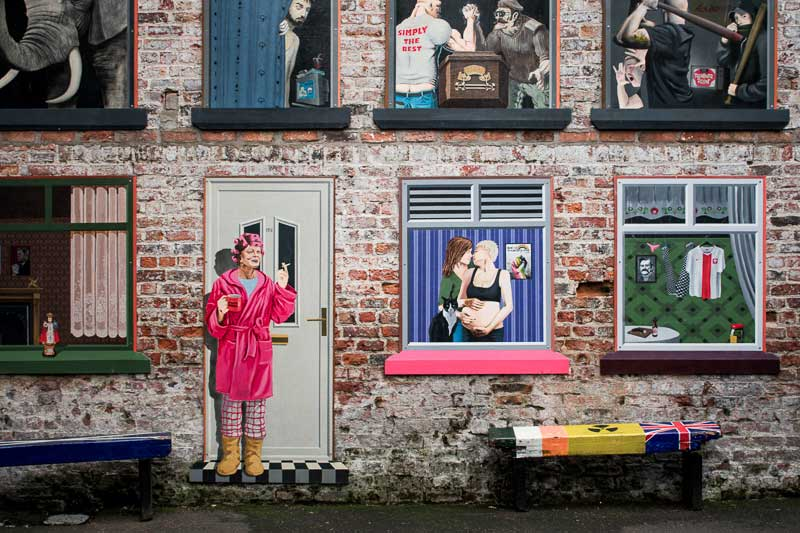 See the murals in the Cathedral Quarter while in Belfast for 48 hours