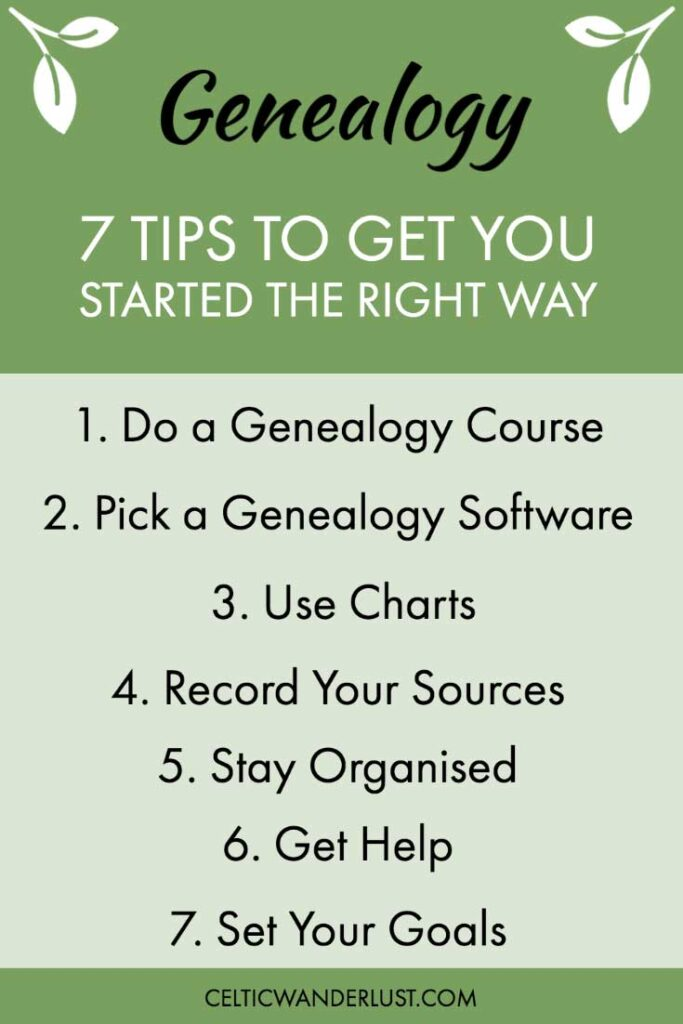 Tips to Get You Started in Genealogy Research