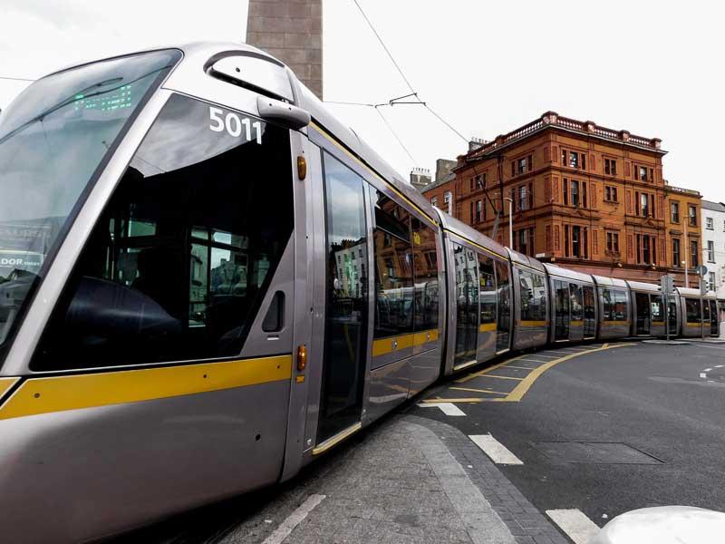 Prendre le tram à Dublin
