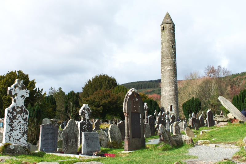 Glendalough Round Tower and Cemetery